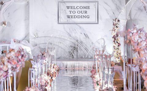 最近比较火爆的婚庆现场布置效果图 感受婚礼策划报价物有所值