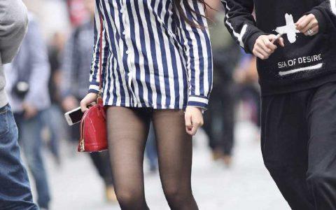 身高不够鞋子来凑!美女衬衫搭配黑丝轻松打造下衣失踪,亮点十足