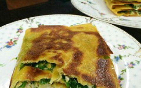 奶奶教的韭菜鸡蛋饼,做法经典,出锅香浓,好吃到爆