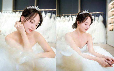 买超带张嘉倪试婚纱,张嘉倪从试衣间出来那刻,网友:能舔屏吗?