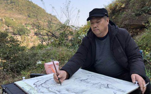 曙艺文化:当代实力派山水画家陈春林2019新作山水画