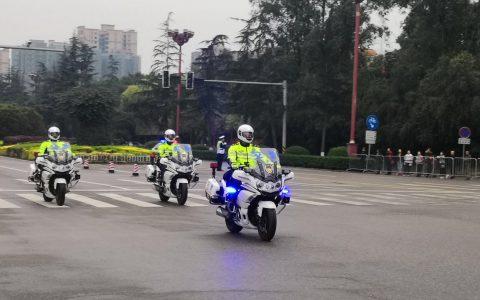 """眉山公安交警圆满完成""""东马""""交通安保任务"""