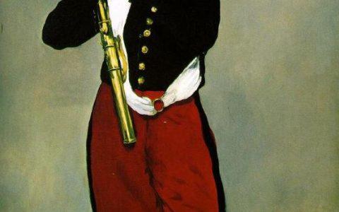 吹笛子的少年(法国印象派画家爱德华·马奈创作于1866年的一幅油画)