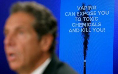 美国纽约宣布紧急行政令,禁止销售调味电子烟