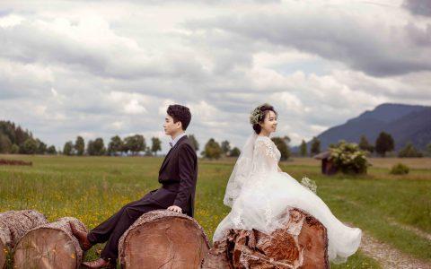 天鹅堡婚纱照