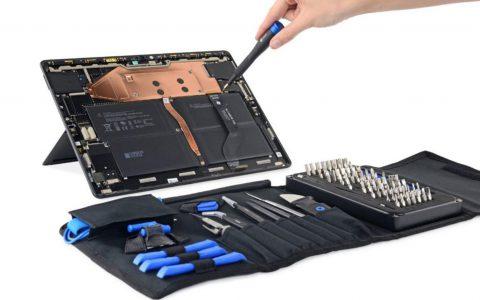 微软Surface Pro X拆解揭示了易于维修的平板电脑设计