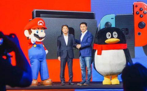 腾讯与任天堂合作出大陆版Switch 主机游戏