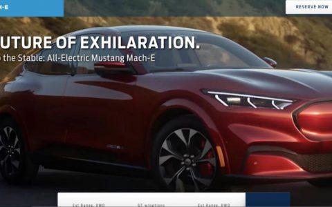 福特野马Mach-E全新电动跨界SUV在照片曝光
