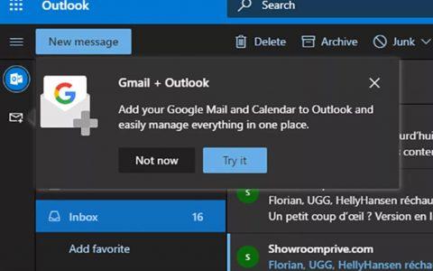 微软在基于Web的Outlook中测试Gmail集成
