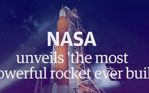 """美国宇航局公布""""有史以来最强大的火箭"""""""
