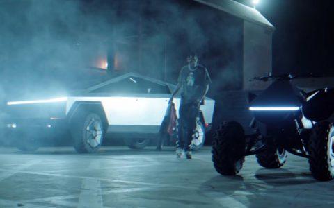 特斯拉的Cybertruck涉足Travis Scott音乐视频