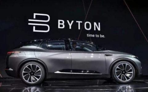 中国电动汽车初创公司拜腾开始量产