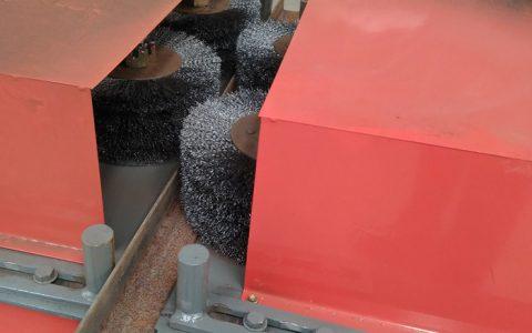 H型钢除锈设备槽钢除锈机