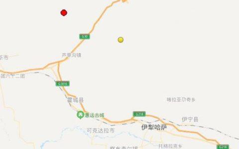 7月13新疆伊犁州霍城县发生5级地震,震源深度15公里