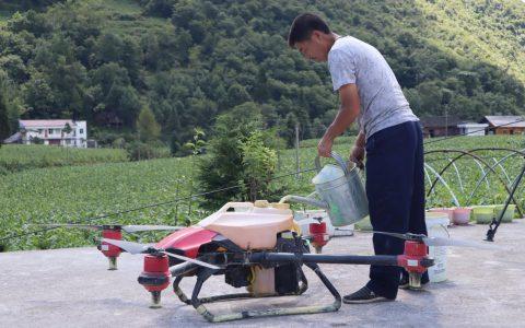 恩施鹤峰县:无人机飞防 帮助烟农生产自救