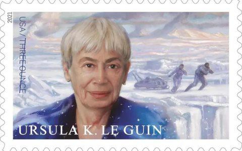 一枚邮票,纪念一位科幻作家